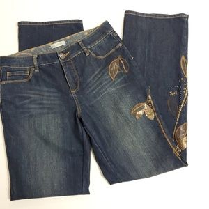 Coldwater Creek embroidered jeans size 10